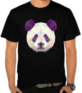 Panda Face Triangle Art