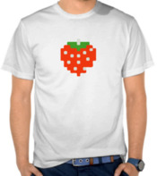 Pixel Art Pacman Strawberry