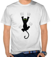 Black Cat Fall On My T-shirts