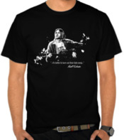 Kurt Cobain Silhouette and Quotes