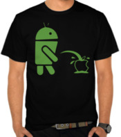 Parodi Logo Android dan Apple