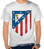Sepak Bola - Atletico Madrid Custom Logo
