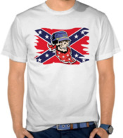 Rebel Flag With Skull