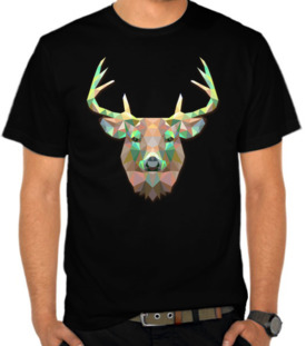 Deer Face Triangle Art
