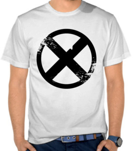 X Men Button Black