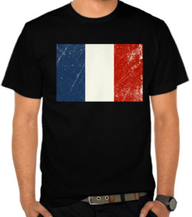 France Grunge Flags
