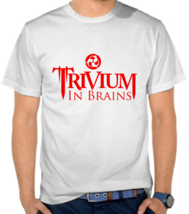 Trivium In Brains Logo Red