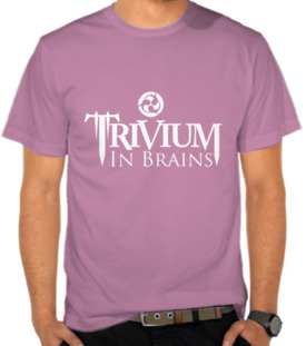 Trivium In Brains - Logo Putih