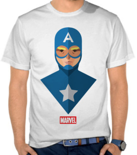 Marvel - Captain America Flat Design